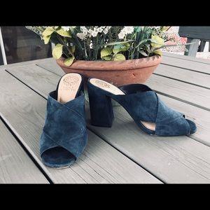 Vince Camuto Navy Blue Jevan Heeled Sandals 👡
